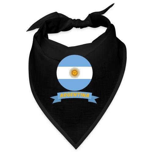 flag of argentina t shirt design ribbon banner - Bandana