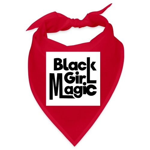 Black Girl Magic 2 Black Text - Bandana
