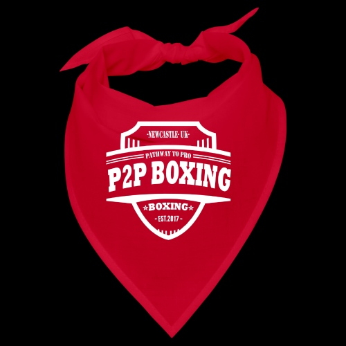 P2P Boxing White Logo - Bandana