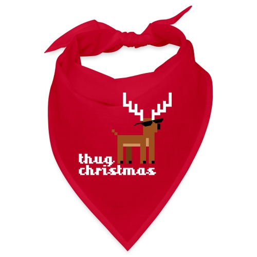 Christmas Xmas Deer Pixel Funny - Bandana