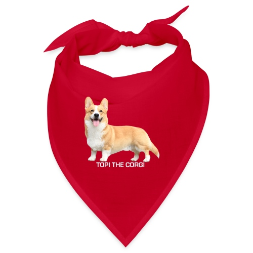Topi the Corgi - White text - Bandana
