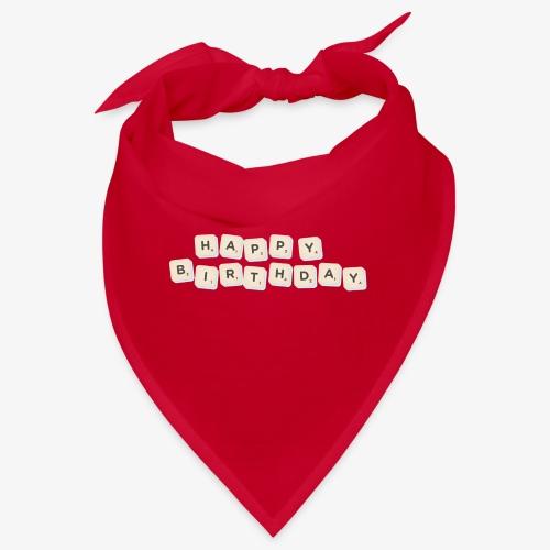 Happy Birthday Scrabble - Bandana