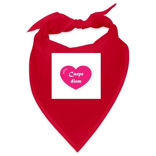 Spread shirt hjärta carpe diem vit text - Snusnäsduk
