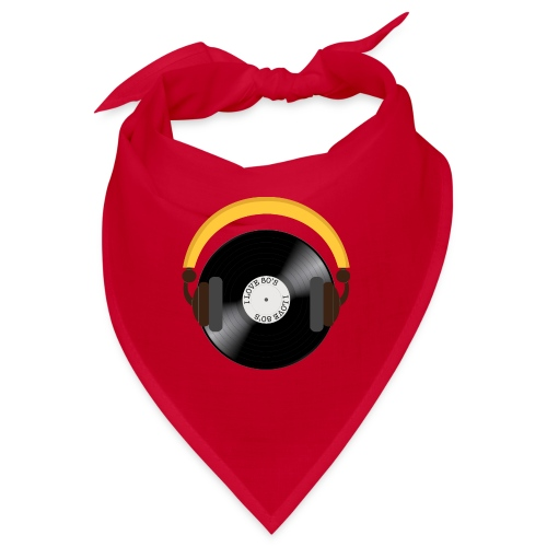 Retro Vinyl Record with headphone!. - Bandana