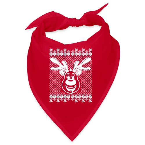 Rudi Reindeers hässliche Weihnachten in weiß - Bandana