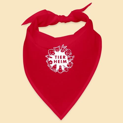 Tierheim Logo weiss - Bandana