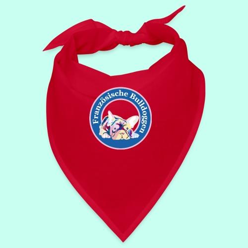 Französische Bulldoggen rosa blau - Bandana