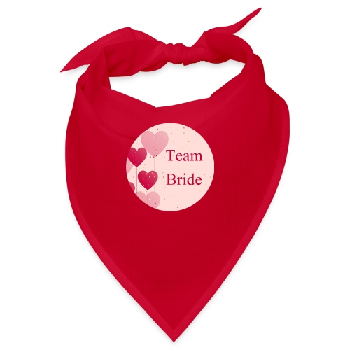 Team Bride Heart pink - Bandana