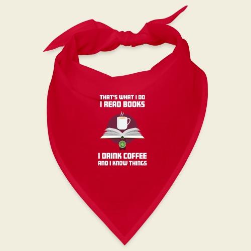 Buch und Kaffee, hell - Bandana