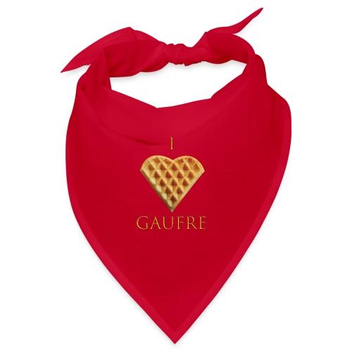 i love gaufre - Bandana
