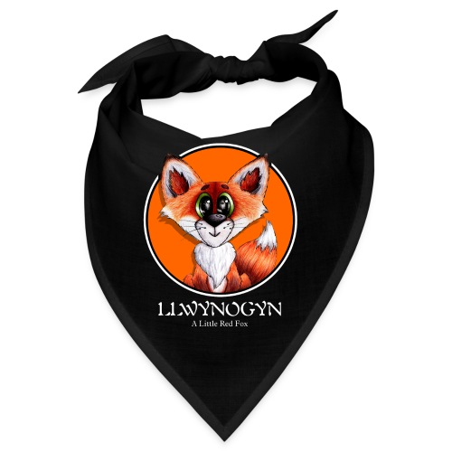 llwynogyn - a little red fox (white) - Bandana