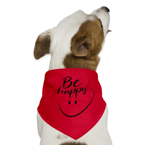 Be Happy With Hand Drawn Smile - Dog Bandana