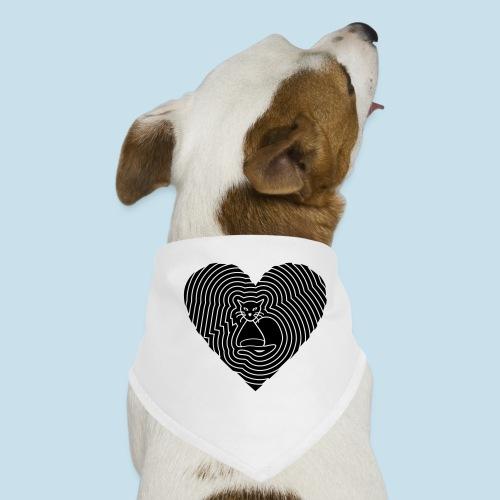 Katzen Spirale Herz - Hunde-Bandana
