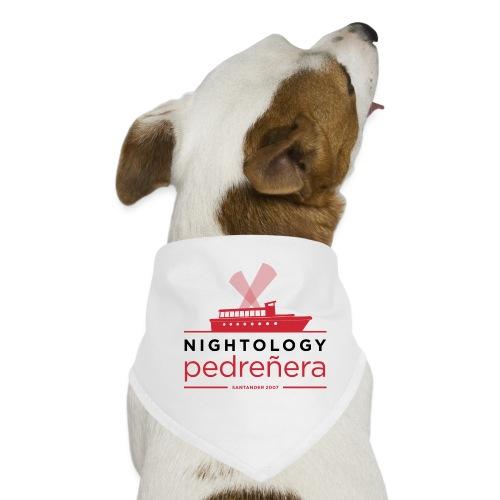 Nightología Pedreñera (colores claros) - Pañuelo bandana para perro