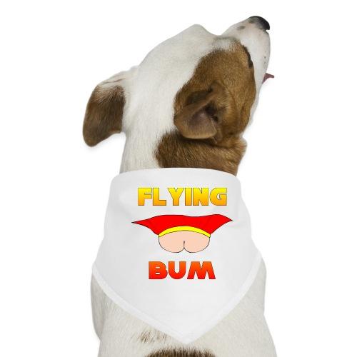 Flying Bum (face on) with text - Dog Bandana