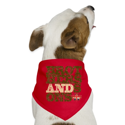 Brothers and Sons logo - dark design - Dog Bandana