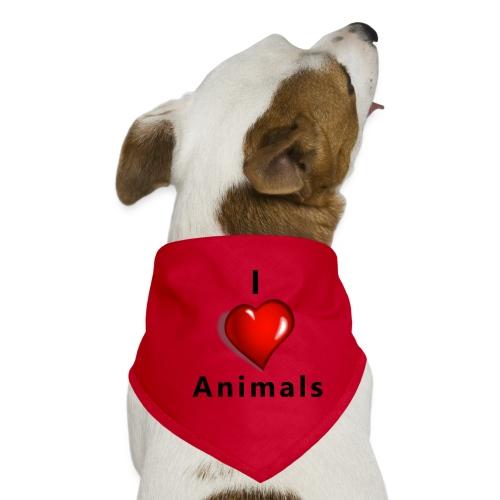 i love animals - Honden-bandana