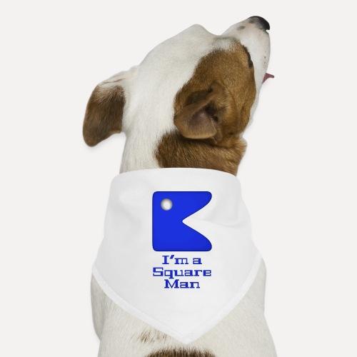 Square man blue - Dog Bandana