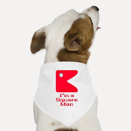 Square man red - Dog Bandana