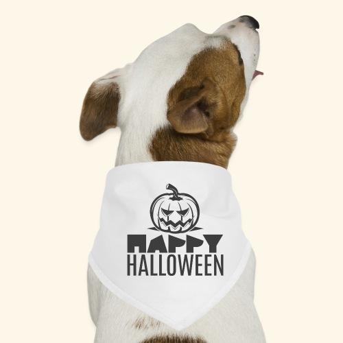 happy halloween pumpkin logo - Pañuelo bandana para perro
