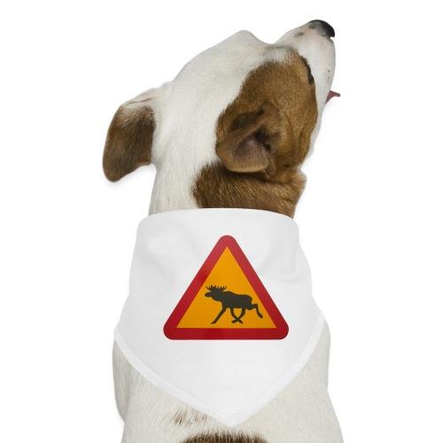 Warnschild Elch - Hunde-Bandana