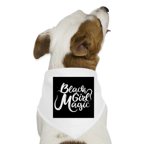 Black Girl Magic 1 White Text - Dog Bandana