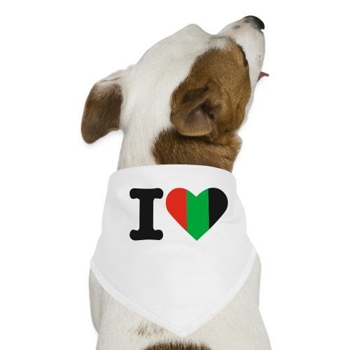 hartjeroodzwartgroen - Honden-bandana