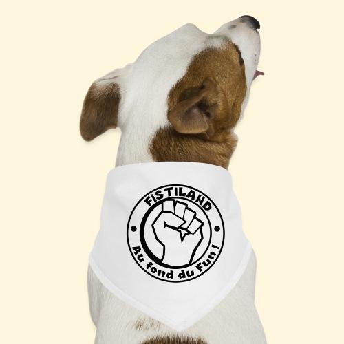 logo Fistiland Noir - Bandana pour chien