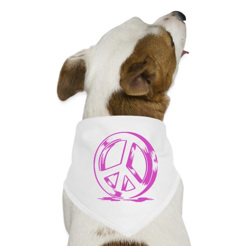Peace and Love - Bandana pour chien