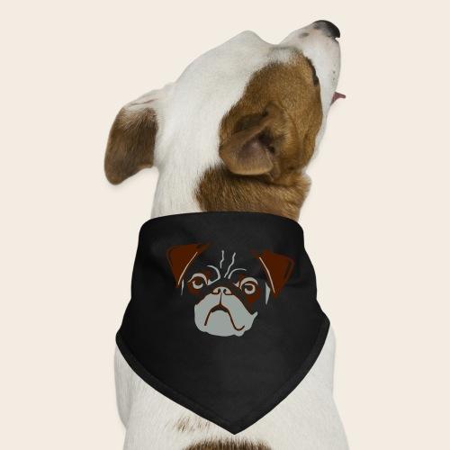 otiz mops kopf 2farbig - Hunde-Bandana