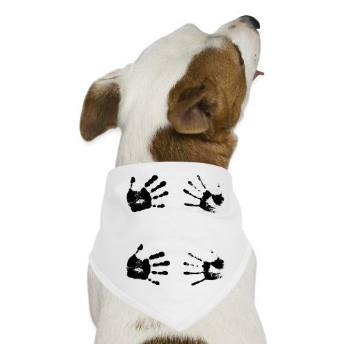 Schwarze Handabdrücke. Geschenk - Bandana per cani
