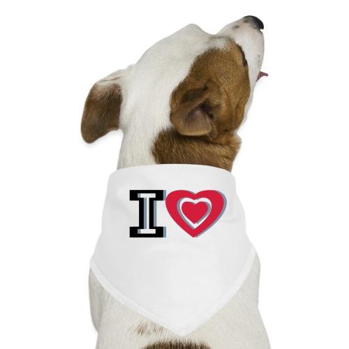 I LOVE I HEART - Dog Bandana