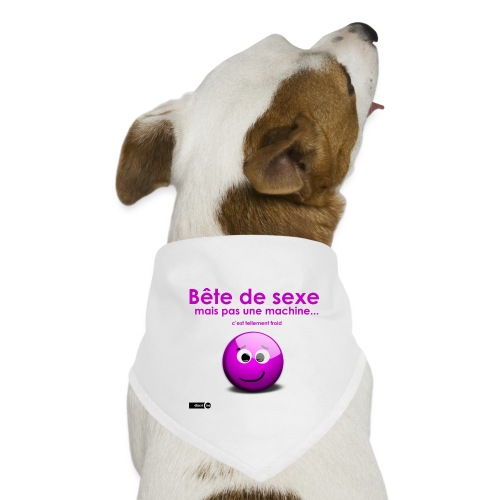 bête sexe smiley - Bandana pour chien