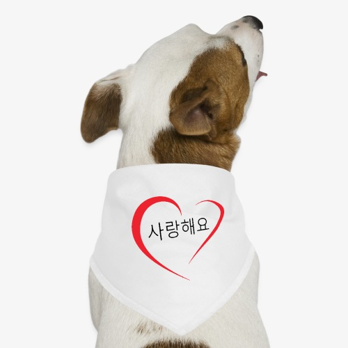 Saranghaeyo (je t'aime en coréen) - Bandana pour chien