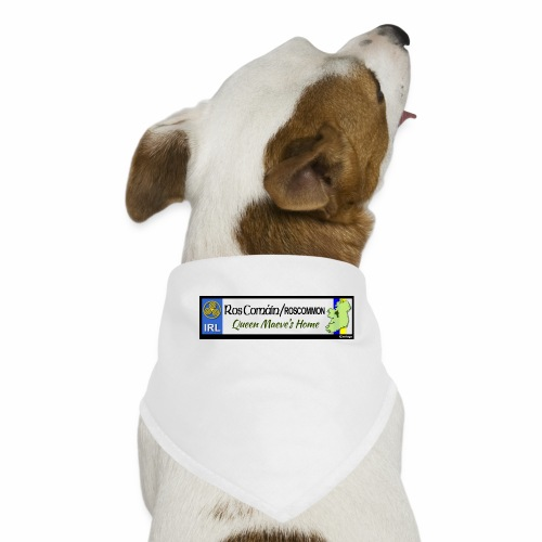 ROSCOMMON, IRELAND: licence plate tag style decal - Dog Bandana