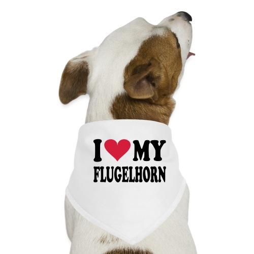 I LOVE MY FLUGELHORN - Hunde-bandana