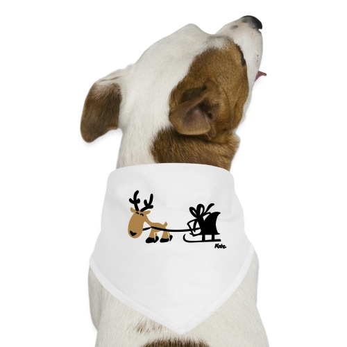 Rentier Schlitten (c) - Hunde-Bandana