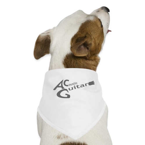 Acoustic Guitar Logo - Gray - Dog Bandana