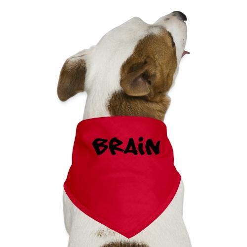brain schriftzug - Hunde-Bandana