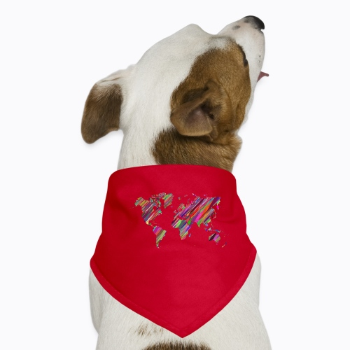 world colorful - Dog Bandana
