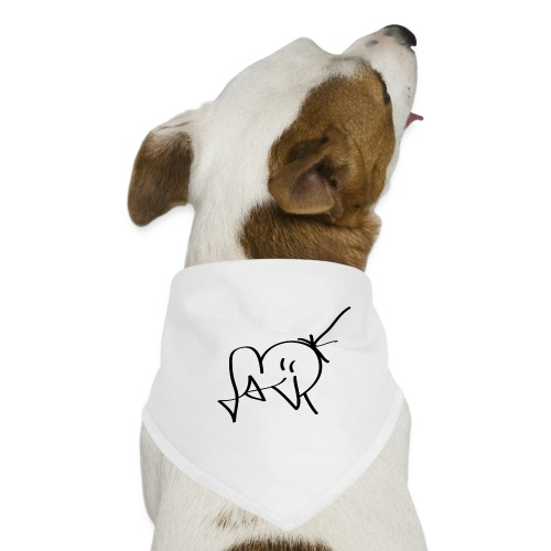 Jackjohannes Hemp signatuur 'Jack' zwart - Honden-bandana