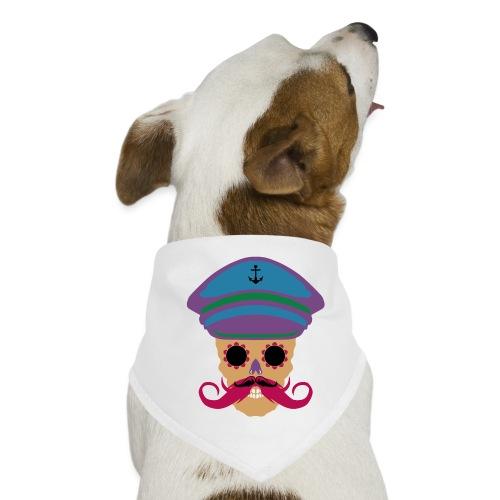 tete de mort fantaisie crane dessin kepi moustache - Bandana pour chien