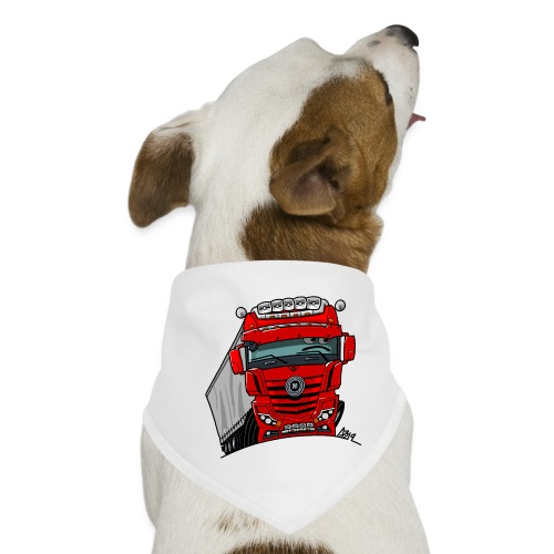0807 M truck rood trailer - Honden-bandana