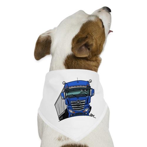 0807 M truck blauw trailer - Honden-bandana