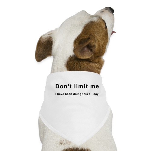 Don't limit me - Zensitivity - Honden-bandana