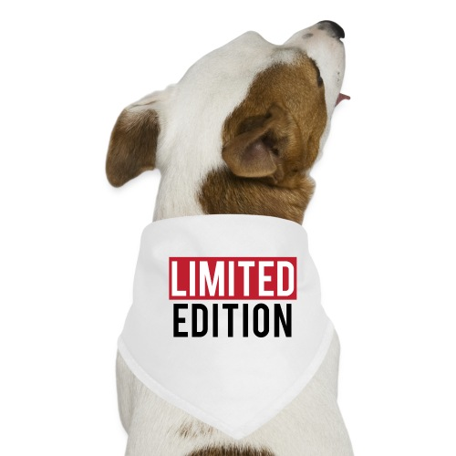 limited edition t shirt design text design - Bandana per cani