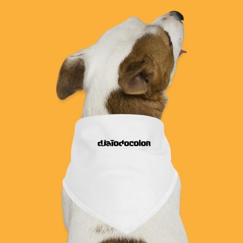 DJATODOCOLOR LOGO NEGRO - Pañuelo bandana para perro