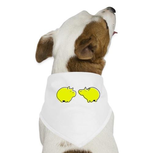 Cochons jaunes - Bandana pour chien