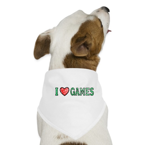I Love Games - Bandana dla psa