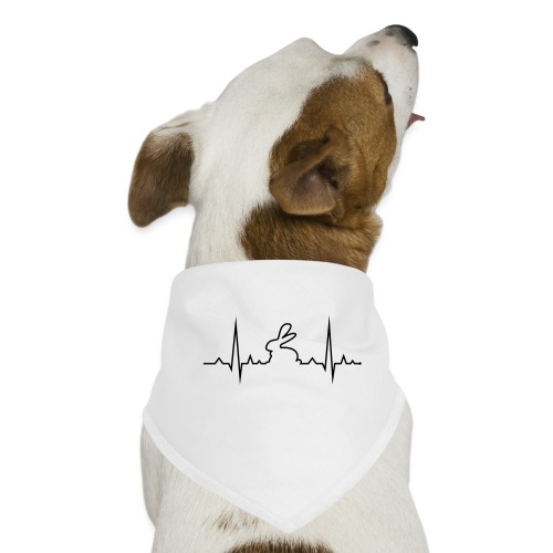 EKG Herzschlag Hase Kaninchen Zwergkaninchen - Hunde-Bandana